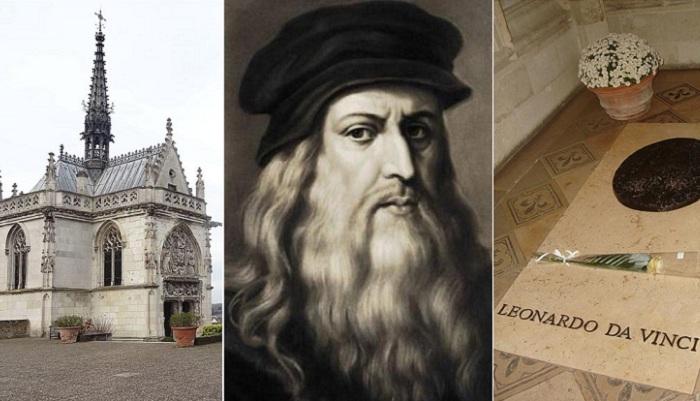 Леонардо да Винчи и часовня Сен-Юбер, где захоронены его останки.
